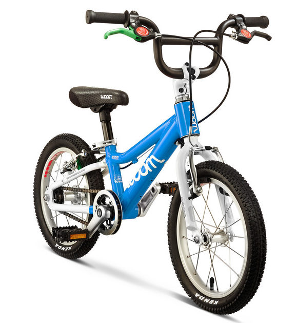 """WOOM 2 kids bike - the lightest of the 14"""" wheel kids bikes available in the UK, suitable for children aged 3 years, 4 years and 5 year olds."""