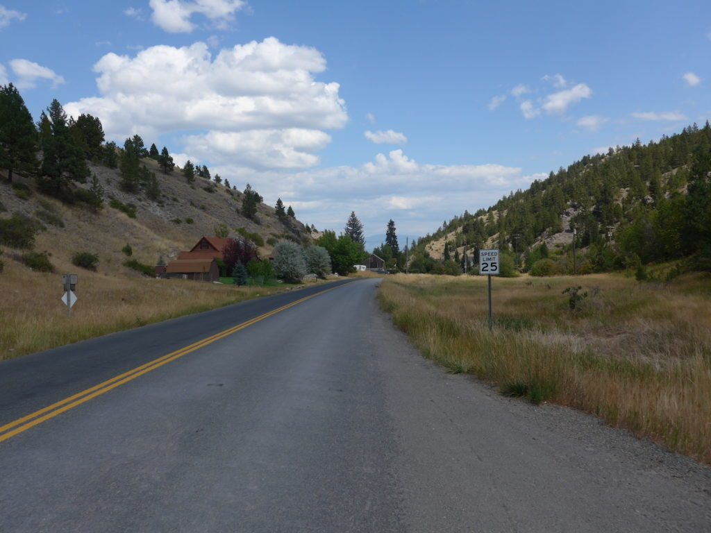 Helena, Montana - route to the trail head