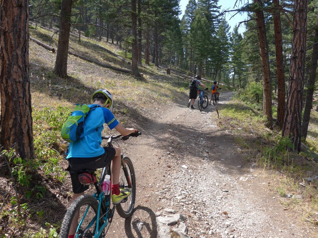 Struggling up hill in Helena Montana