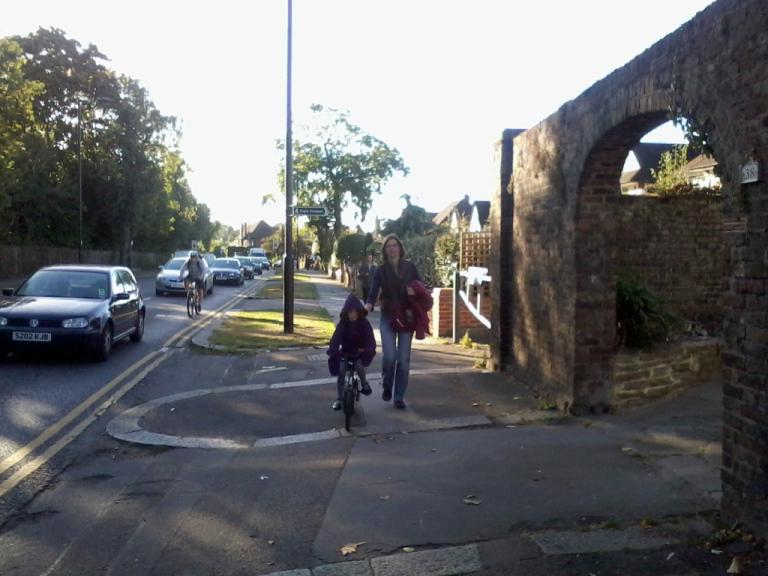 Bike to School on pavement