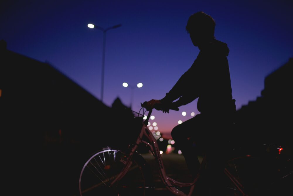 Kids on bikes in the dark - how to make them visible to drivers