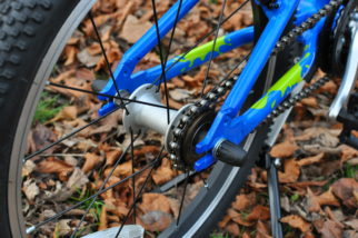 """The Squish 18 is a single speed kids bike with 18"""" wheels"""