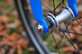 Front wheel of the Squish 18 childs bike