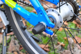 The rear axles on the Squish 18 kids bike are solid to allow you fit stabilisers if needed