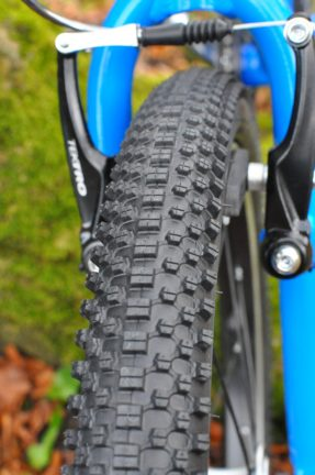 Tyres on the Squish 18 are small block so should be ideal for all surfaces