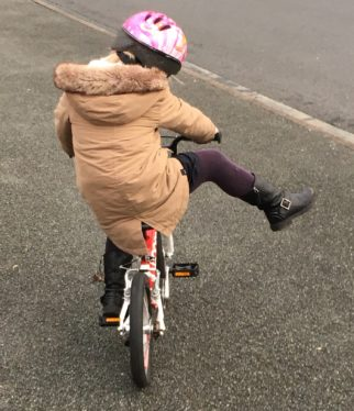 The lightness of the Woom2 allows kids to practise their cycling skills