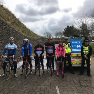Cumbria Cycle Clubs at Operation Close Pass launch