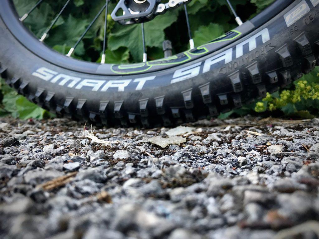 Cube Kid 240SL review - Schwalbe Smart Sam tyres
