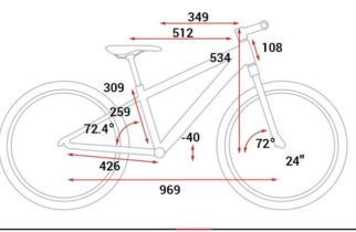 """Cube Reaction TM geometry on a 24"""" wheel kids mountain bike"""