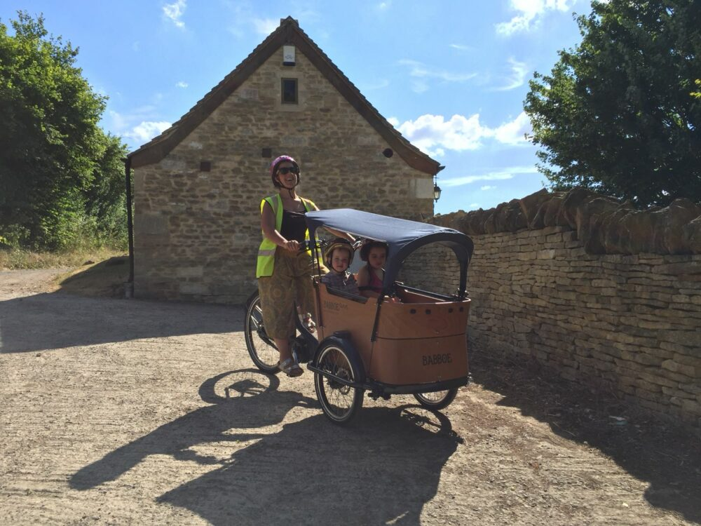 The Babboe Mountain Curve Cargo Bike in action