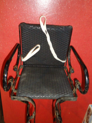 Old Leco Bike seat with cotton harness