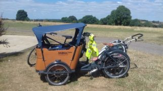 Packing a Babboe cargo bike on a family bikepacking camping trip