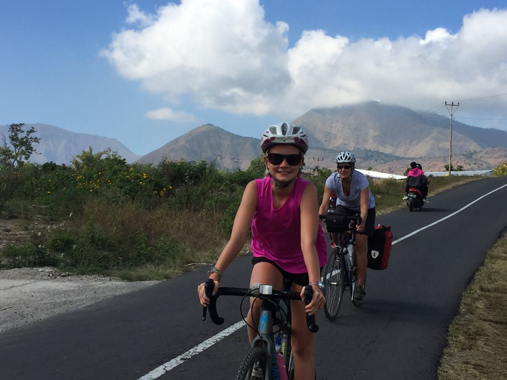 Family bikepacking on Lombok Indonesia - family cycling holiday with kids in Asia