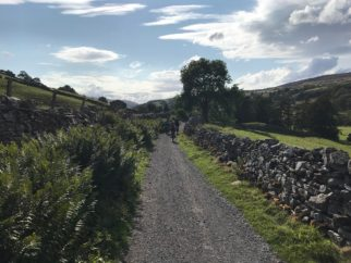 Gravel track section of Swale Trail near Reeth