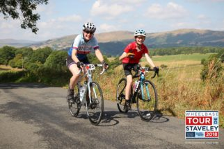 Riding the Tour de Staveley - smiling