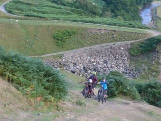 Steep climb up from Swinner Gill on the Swale Trail