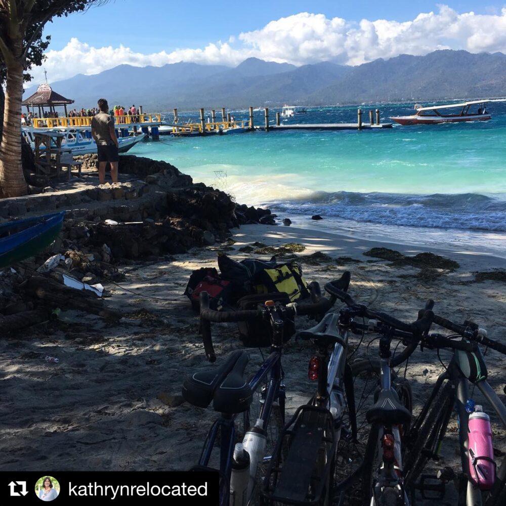 Family bikepacking Gili Air Indonesia