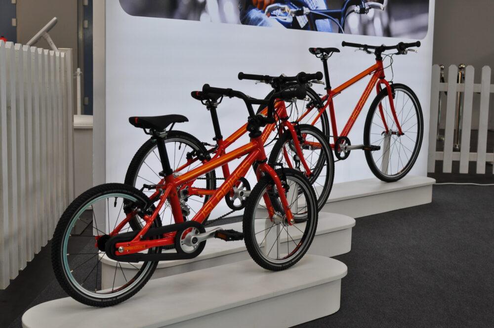 Islabikes Beinn range on display at the 2018 Cycle Show