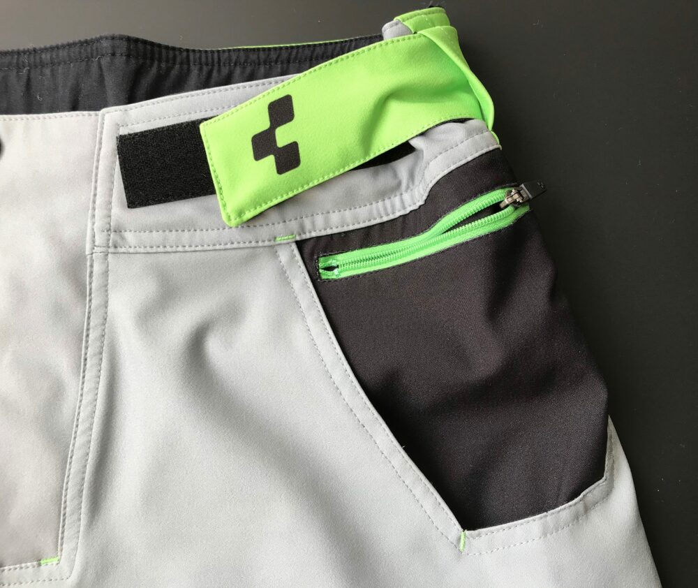 Cube Action Essentials mtb shorts showing pockets