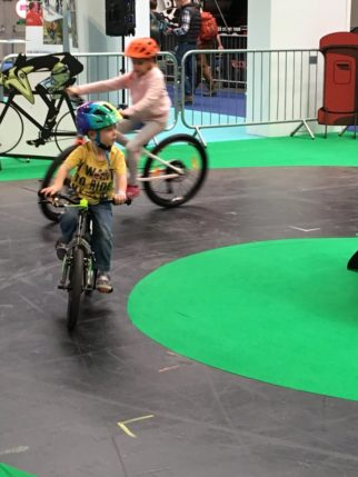 Cube Bikes Kids Test Track at the Cycle Show 2018 - one of the main attractions if you're thinking of taking your kids to the Cycle Show at the NEC Birmingham