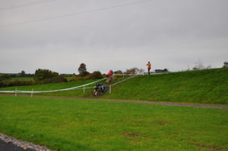 Steep slope at the U14's cyclocross
