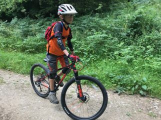 """Frog MTB 69 Review - the 26"""" wheel kids mountain bike in use"""
