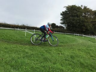 Practice lap at the Cyclocross U14's race - riding the Worx JA700