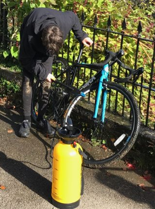 Cleaning the Worx JA700 after a cyclocross race