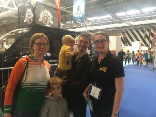 With the family at the Cycle Show 2018