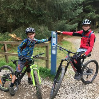 Cube Stereo 140 and Cube 240 SL kids MTB's in action