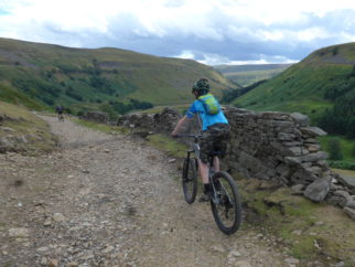 Riding the Swale Trail on the Cube Stereo 140 Youth kids full suspension mountain bike