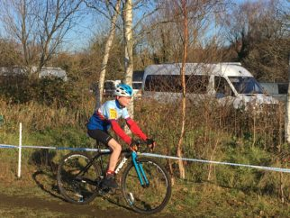 Riding in the U14's cyclocross race at Ulverston NWCCA 2018