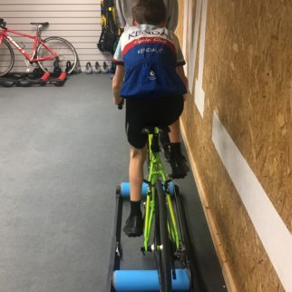 Learning to cycle on rollers for kids