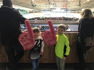 Taking kids to watch the cycling at the velodrome