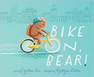 Bike On Bear - a picture book for children about learning to ride a bike