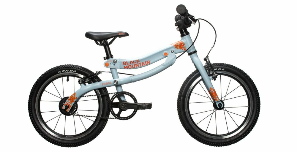 """Black Mountain Skog - one of the best 16"""" wheel kids bikes available, which transforms from a balance bike"""