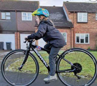 Girl on a bicycle - moving to geared bikes such as the Scatto race bike