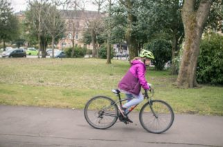 Girls on bicycles - cycling as a way to get around - Katie Noble