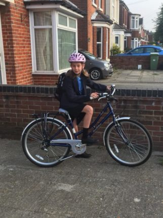 Girls on bicycles - cycling to high school