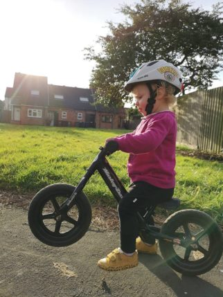 Girls on bicycles - from a very early age