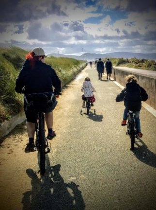 Girls on bicycles - on a family holiday
