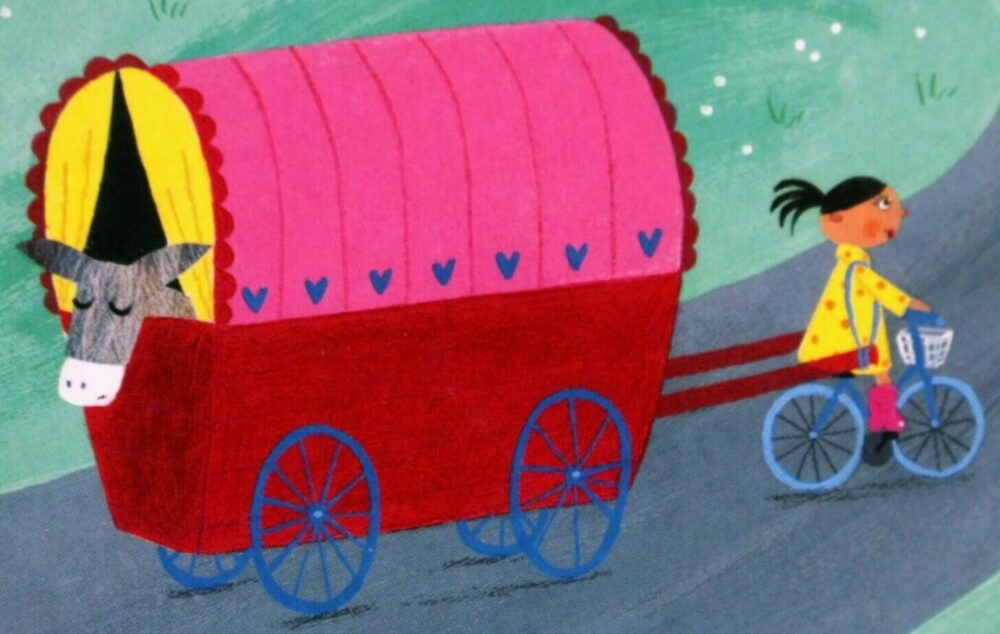 No More Eee-Orrh by Lydia Monks - a children's book showing bikes being used to transport goods