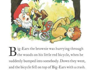 Noddy and Big Ears on a bike