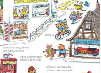 Richard Scary childrens books featuring cycling and bikes
