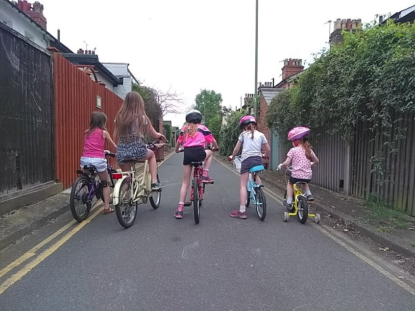 Girls on Bicycles