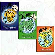 The Boy Who Biked the World by Alistair Humphreys - books about cycling for kids