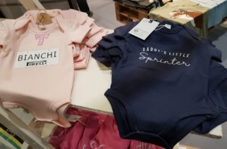 Cycling babygros - bianchi bodysuit for a baby