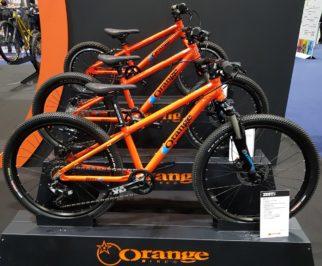 Kids Orange Mountain Bikes at the London Bike Show 2019