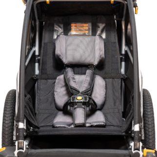 Burley D'Lite - inside the single seat D'Lite child's bike trailer