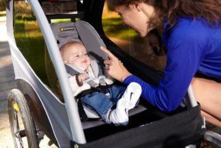 Burley Burley Snuggler for transporting a baby inside a bike trailer